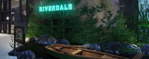Espaço da série Riverdale na Casa Warner, em São Paulo