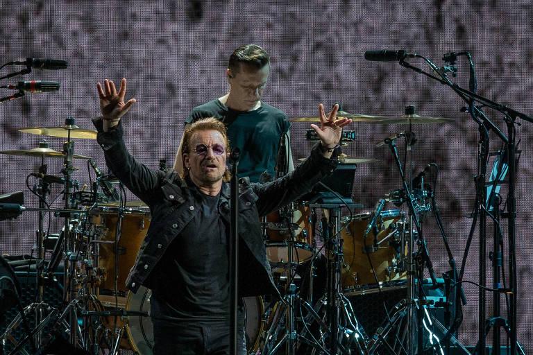 Show da banda irlandesa U2, no estadio do Morumbi, em Sao Paulo