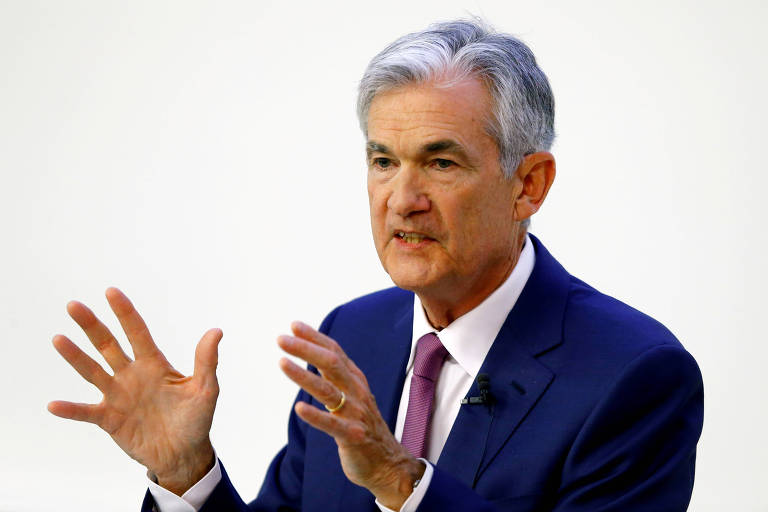 Jerome Powell, presidente do Fed (Federal Reserve, banco central dos EUA)