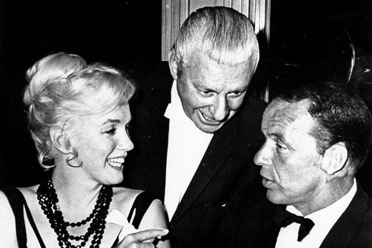 """Marilyn Monroe e Frank Sinatra em cena do filme """"Can Can"""""""