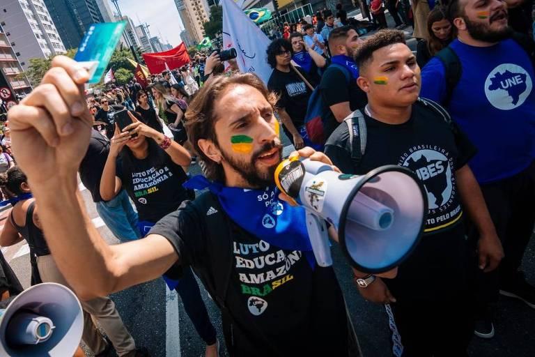 Iago Montalvão - Presidente da UNE (União Nacional dos Estudantes) e estudante de Economia da FEA-USP (Faculdade de Economia, Administração e Contabilidade)
