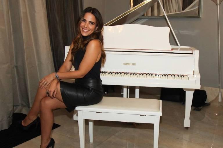 """A cantora Wanessa Camargo durante lançamento da música """"Vou Lembrar"""""""