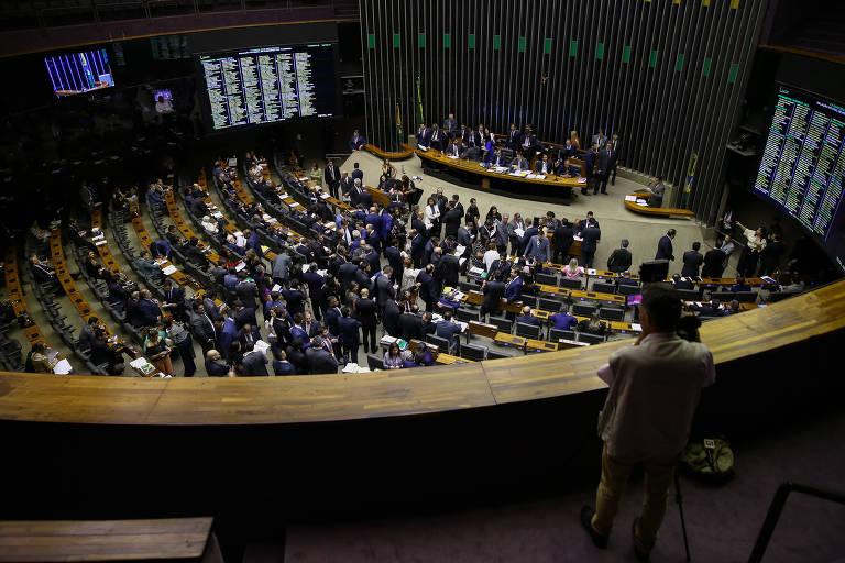 Plenário da Câmara dos Deputados durante votação do projeto que altera a lei eleitoral