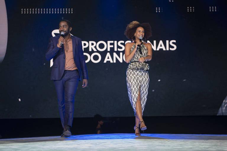 Lázaro Ramos e Tais Araújo no Profissionais do Ano 2019