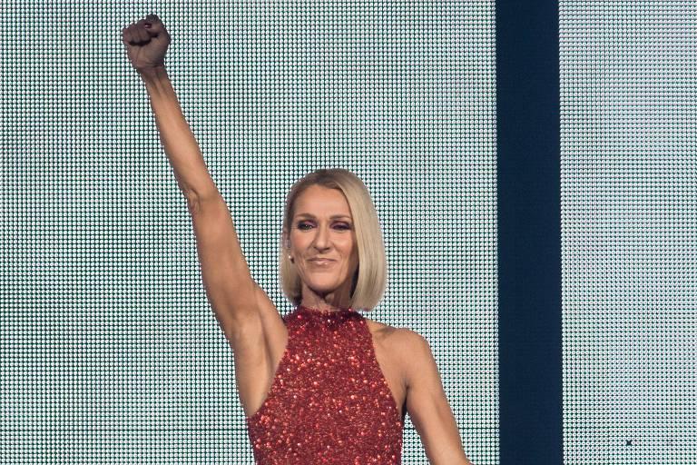 Celine Dion na abertura de sua nova turnê em Quebec