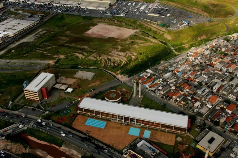 Vista aérea do CEU Aricanduva, na zona leste de São Paulo
