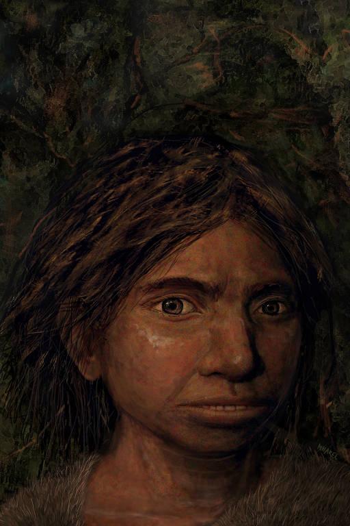 Retrato falado de uma jovem denisovana, com base em sutis modificações do DNA