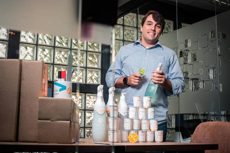 Marcelo Ebert, diretor-executivo da Yvy, na sede da empresa, em São Paulo