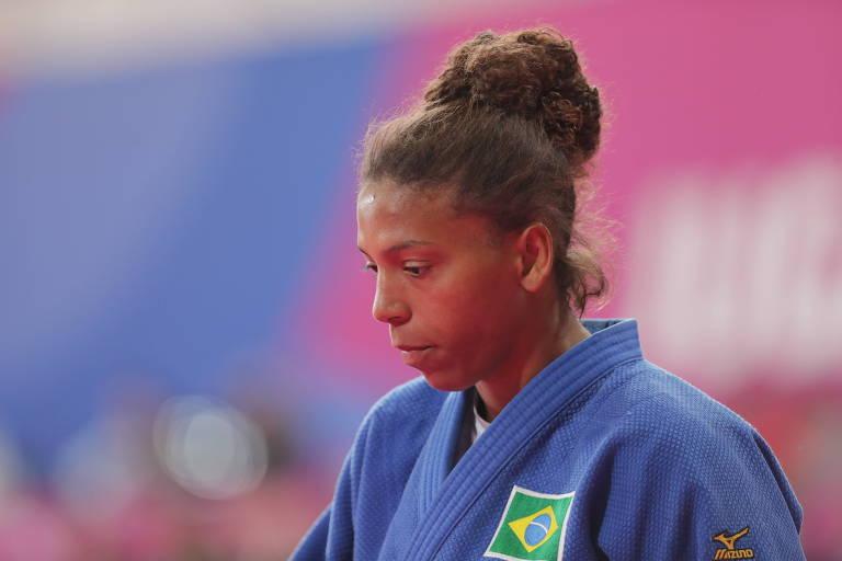 Rafaela Silva durante luta nos Jogos Pan-Americanos de Lima, em agosto
