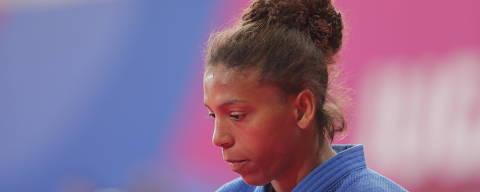 Judo XVIII Pan American Games - Lima 2019 - Women's 57kg Gold - Villa Deportiva Nacional, Videna, Lima, Peru - August 9, 2019. Brazil's Rafaela Silva reacts. REUTERS/Guadalupe Pardo ORG XMIT: BMA166