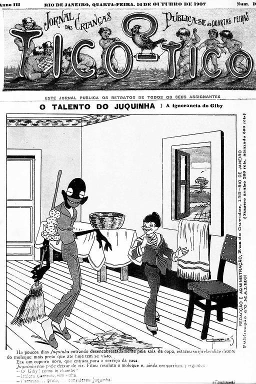 """Imagem do livro """"O Negro nos Quadrinhos do Brasil"""", da editora Peirópolis"""
