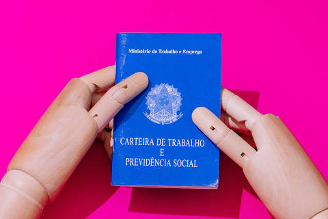 São Paulo, SP, Brasil, 22-07-2019: Carteira de trabalho e previdência social. Ministério do Trabalho e Emprego. (foto Gabriel Cabral/Folhapress)