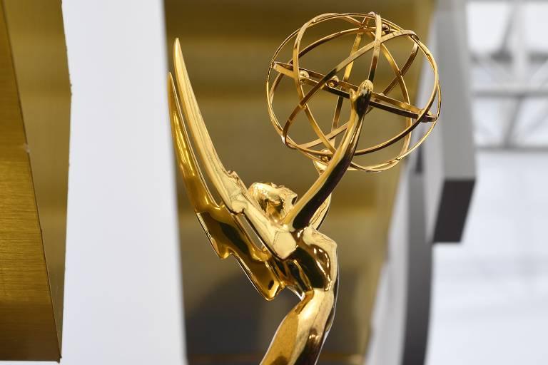 A estatueta do Emmy é vista no tapete vermelho antes dos convidados chegarem ao 71º Emmy Awards no Microsoft Theatre, em Los Angeles, em 22 de setembro de 2019
