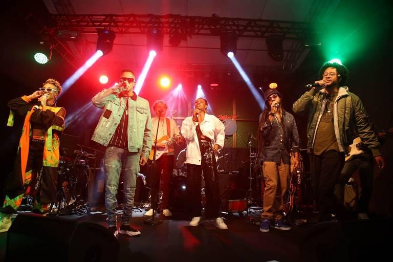 Show pré-Rock in Rio com Karol Conka, Mano Brown, Zé Ricardo, Xênia França, Rael e Emicida; evento ocorreu em um espaço na Mooca (zona leste de São Paulo) e foi promovido pela Heineken