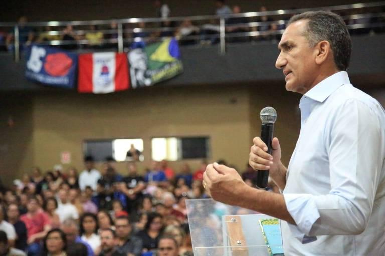 O governador do Amapá, Waldez Góes (PDT), em evento sobre Amazônia Legal em setembro de 2019