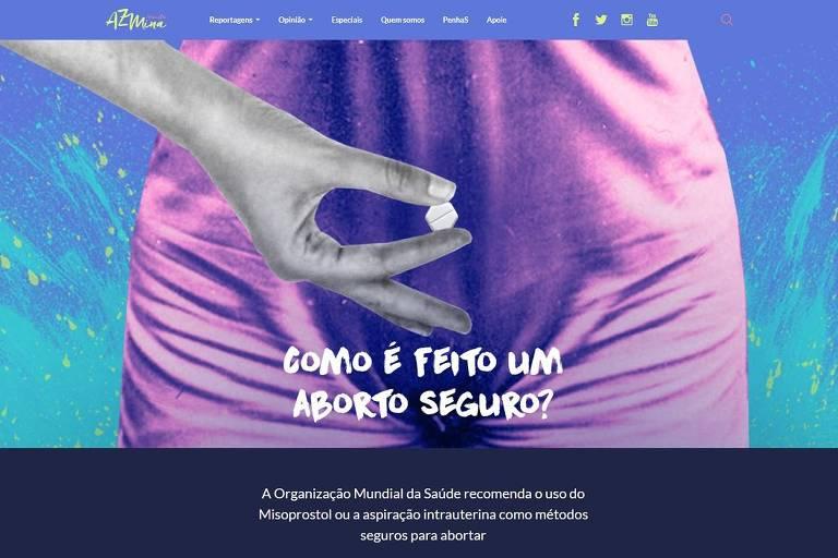 Matéria sobre aborto da revista AzMina