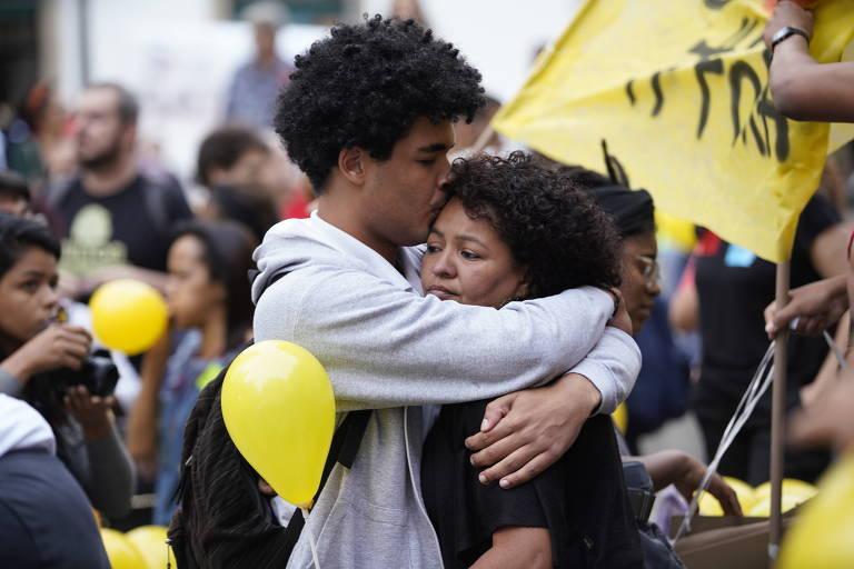 Protesto contra a morte da menina Ágatha Félix, no RJ