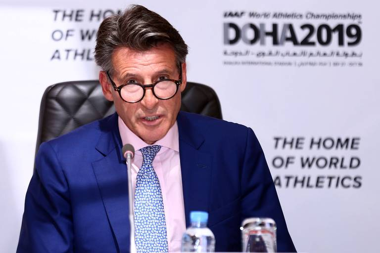 Sebastian Coe, presidente da federação internacional de atletismo; Rússia deve ficar fora do Mundial de Doha