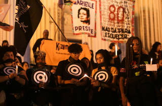 People protests against police violence in Rio de Janeiro