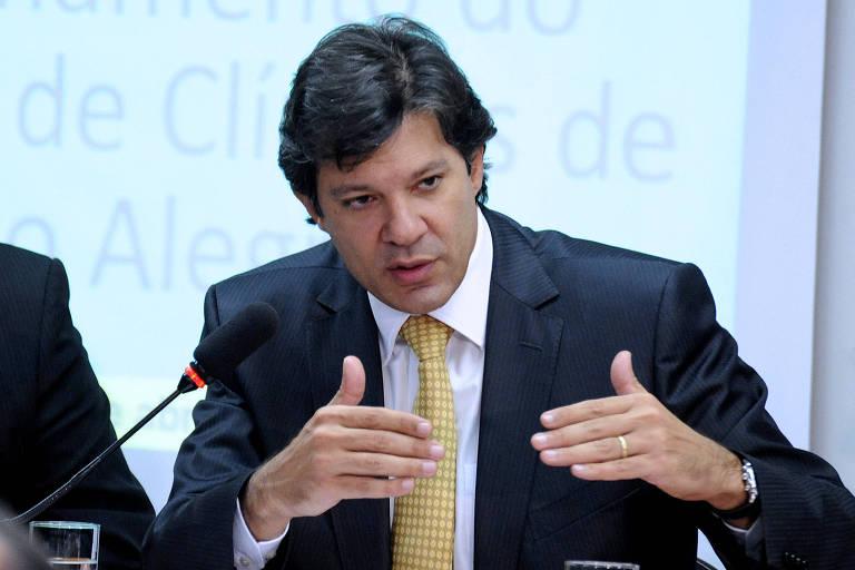 Fernando Haddad, ministro da Educação, em audiência na Câmara dos Deputados em 2011.