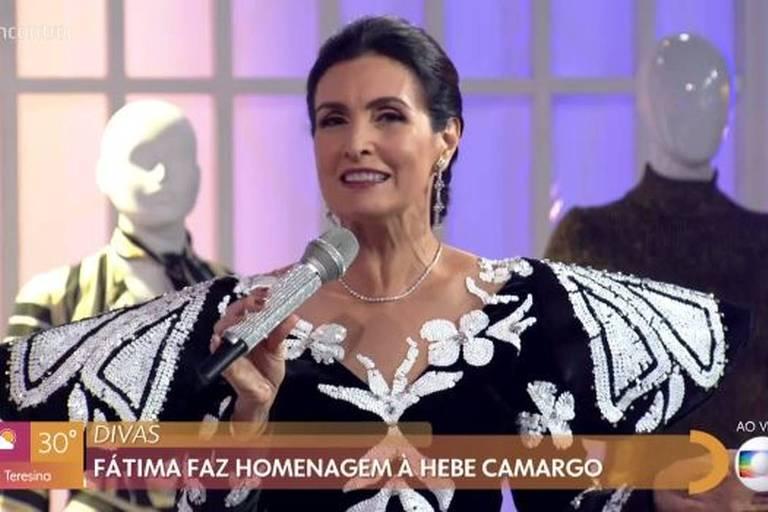 Fátima Bernardes homenageia Hebe no Encontro