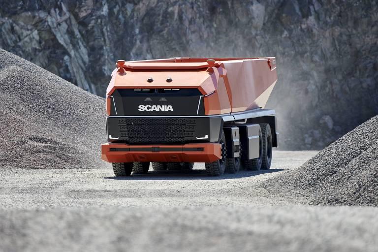Caminhão autônomo Scania AXL