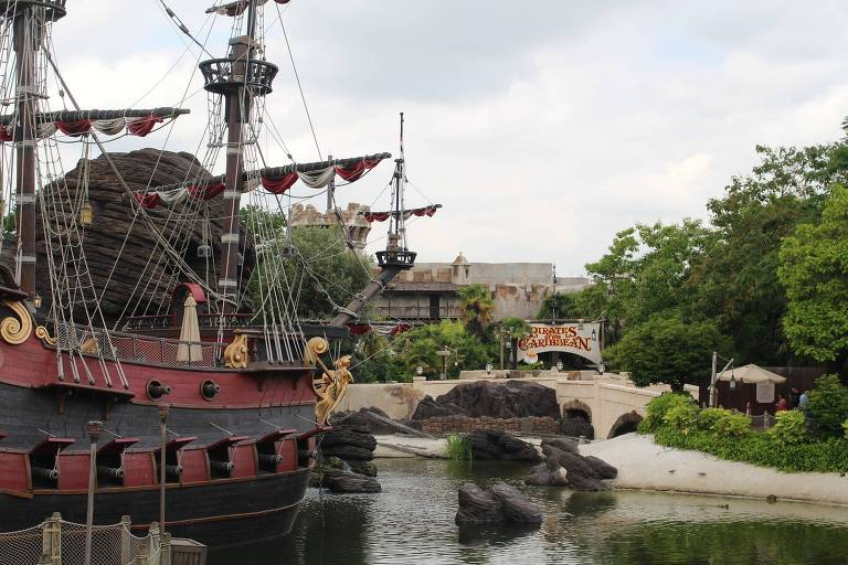 Área Adventureland na Disneyland Paris