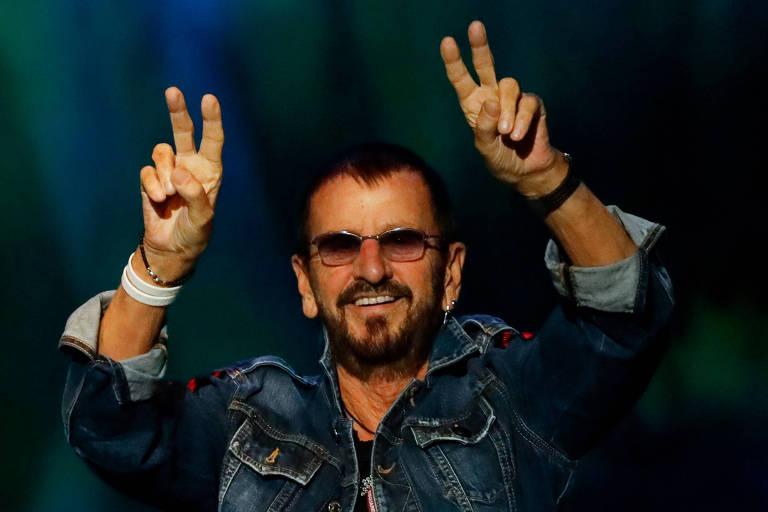 Ringo Starr durante show em Bethel, Nova York
