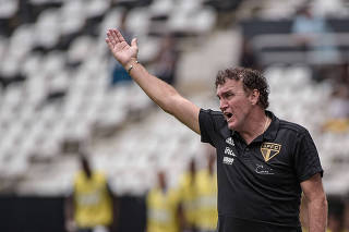 Partida entre Botafogo e São Paulo pelo Campeonato Brasileiro 2019.