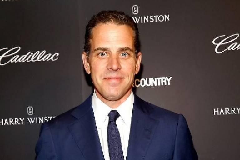 Hunter Biden, filho do pré-candidato democrata Joe Biden, participa de evento filantrópico em Nova York
