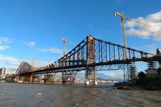 Reforma da ponte Hercílio Luz, em Florianópolis (SC)