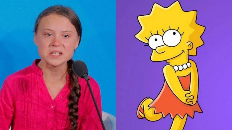 Fãs de 'Simpsons' comparam Lisa à ativista Greta Thunberg