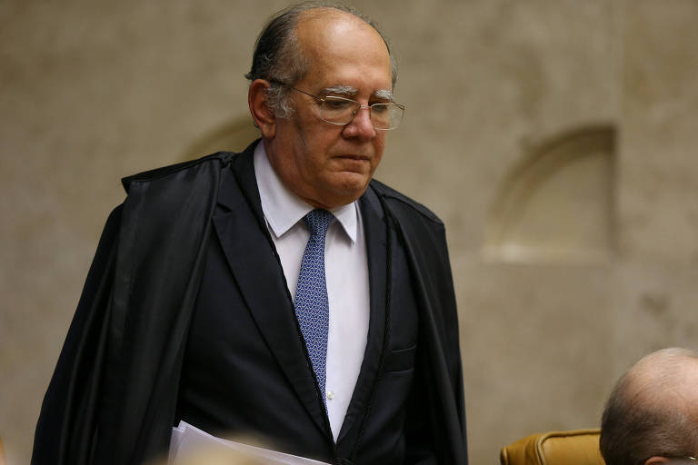 O ministro Gilmar Mendes no plenário do STF