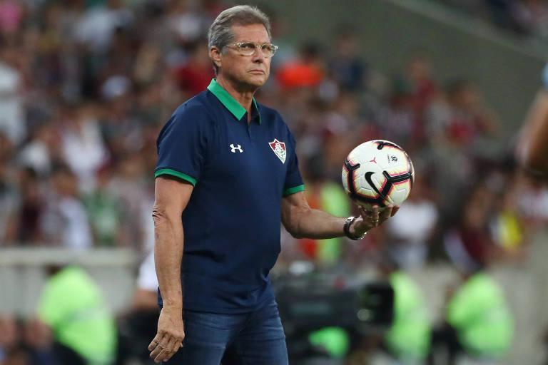 Oswaldo de Oliveira foi demitido do Fluminense após o empate com o Santos, no Maracanã
