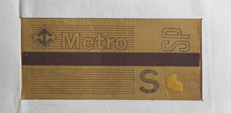 Histórico dos bilhetes de papel do Metrô