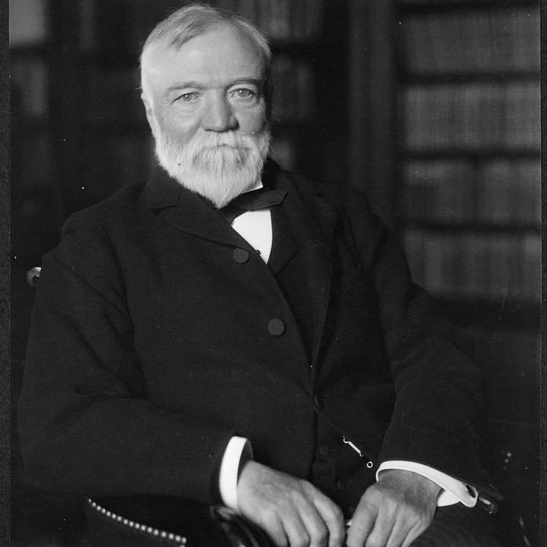Retrato de Andrew Carnegie em 1905