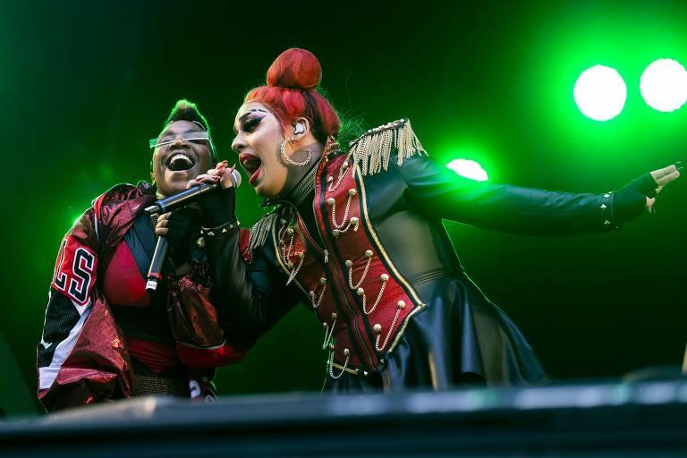 Karol Conka e Gloria Groove em apresentação no Rock in Rio
