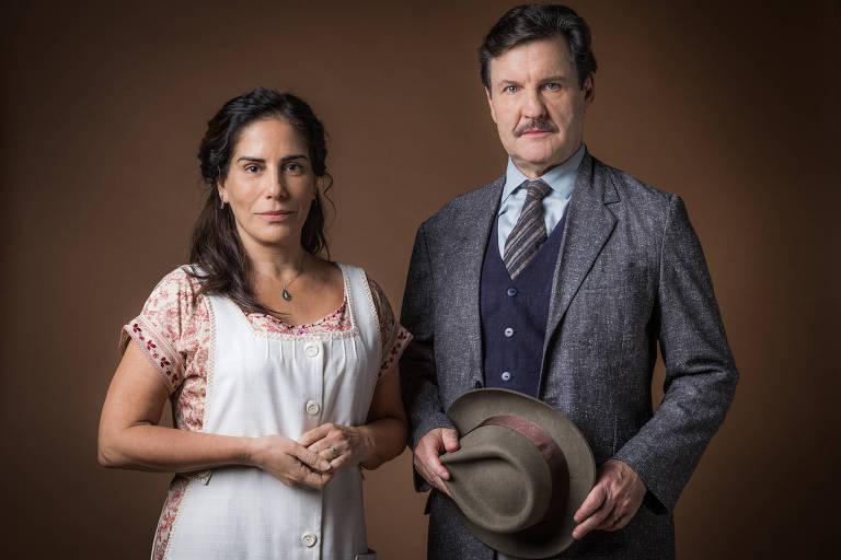 Lola ( Gloria Pires ) e Júlio ( Antonio Calloni )