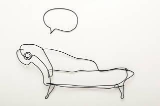 Guia das Profissoes. Esculturas em arame da artista Simone Grecco