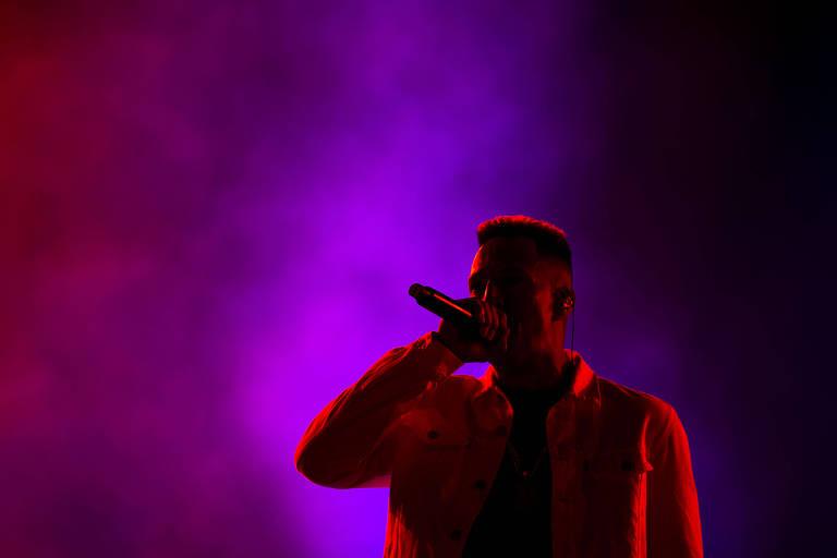Mano Brown, em apresentação no primeiro dia do Rock in Rio