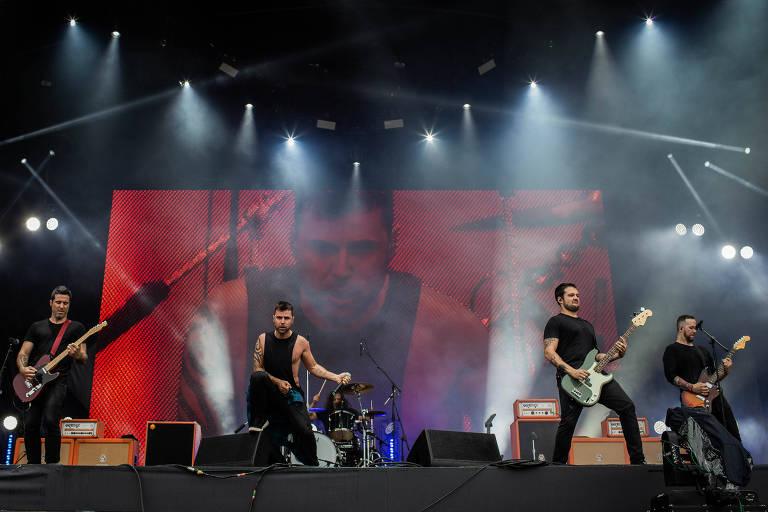 Ego Kill Talent, no palco Sunset, durante o segundo dia do Rock in Rio