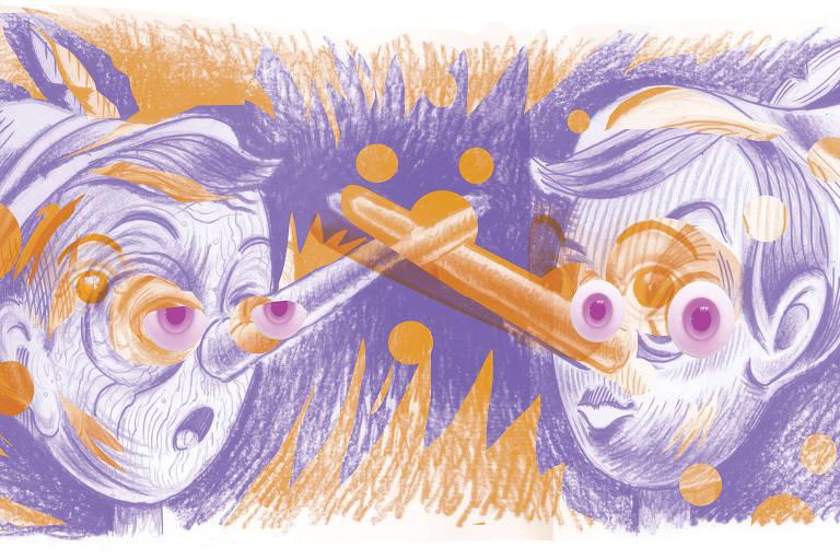Ilustração da coluna do Pondé do dia 30.set.2019