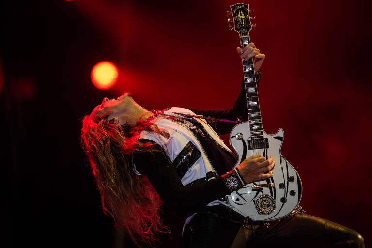 Whitesnake no palco Sunset em segundo dia do Rock in Rio