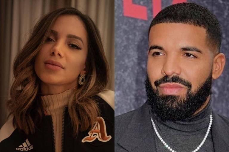 Em passagem pelo Brasil, Drake segue Anitta no Instagram e vê seios de Jojo Todynho