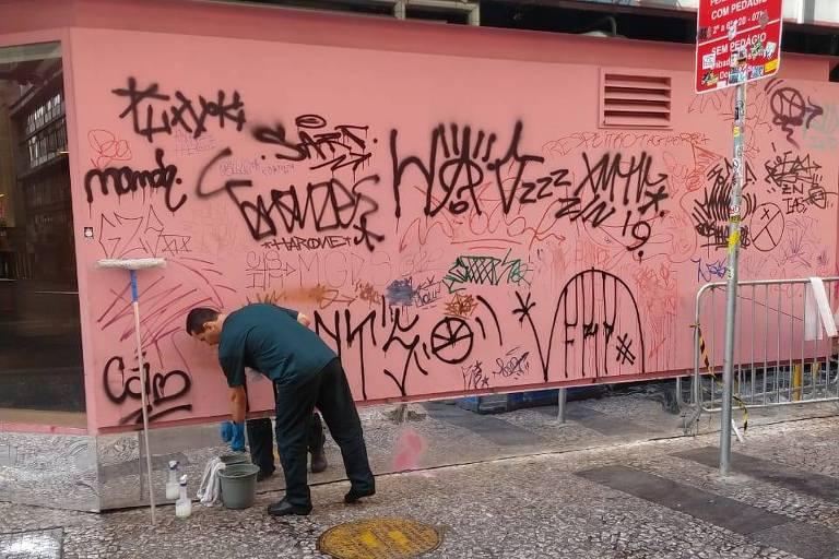 Sesc 24 de Maio apareceu pichado após festival SP na Rua