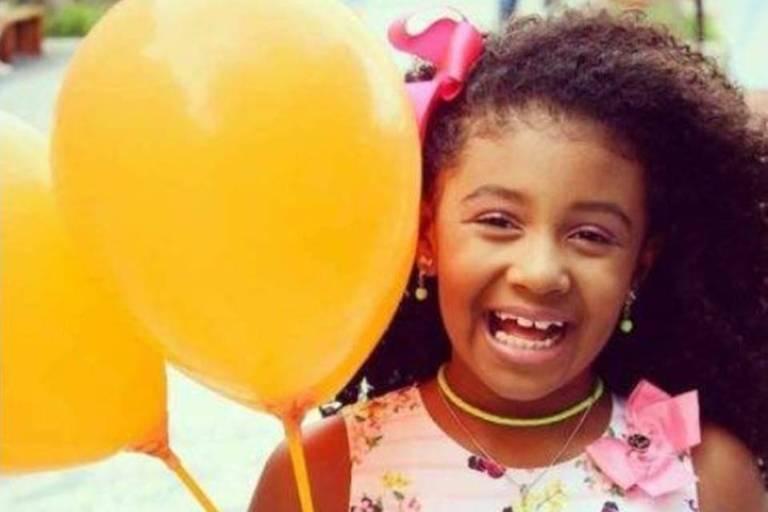 A menina Ágatha Félix, 8, morta em setembro no Rio de Janeiro por tiro de policial