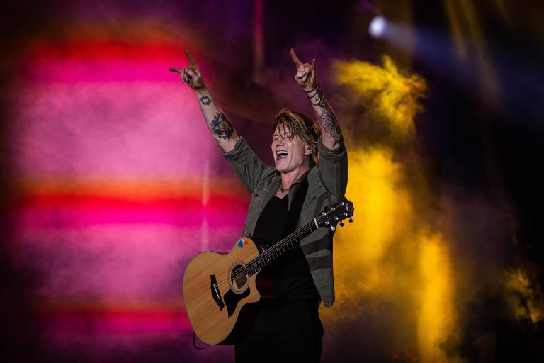O vocalista do Goo Goo Dolls em apresentação no Rock in Rio