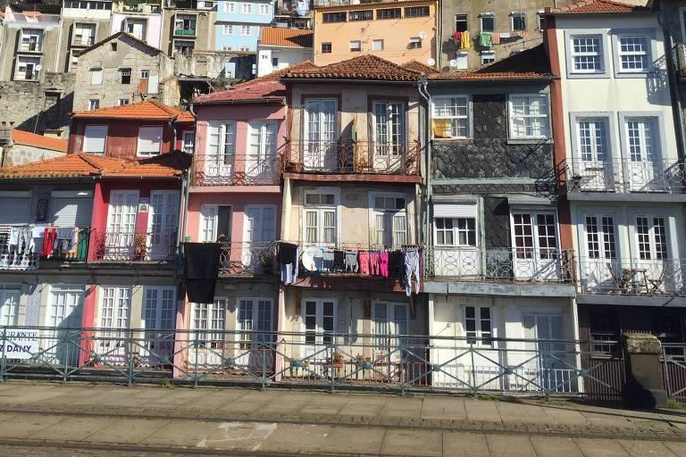 Casas no Porto, em Portugal