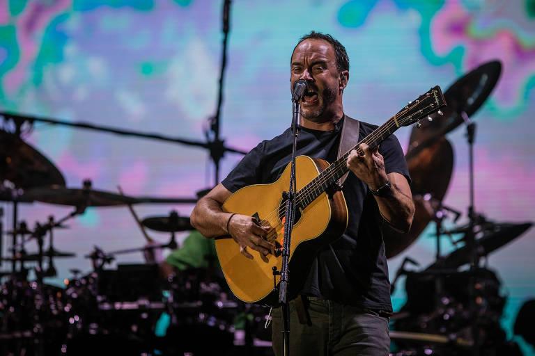 Dave Matthews em apresentação no terceiro dia do Rock in Rio