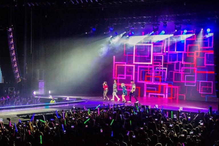 Show do grupo de k-pop Kard em setembro de 2018 no Espaço das Américas, em SP